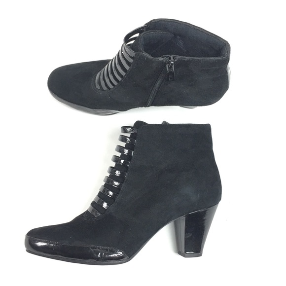81d34f1fd43 Clarks Diamond Empire Black Ankle Booties Leather